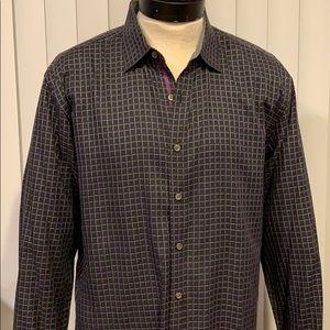 Bugatchi men's xl shaped fit long sleeve shirt